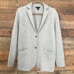 J. Crew Merino Wool Sweater Blazer Grey Sz M